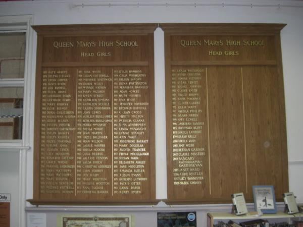 Various Honours Boards