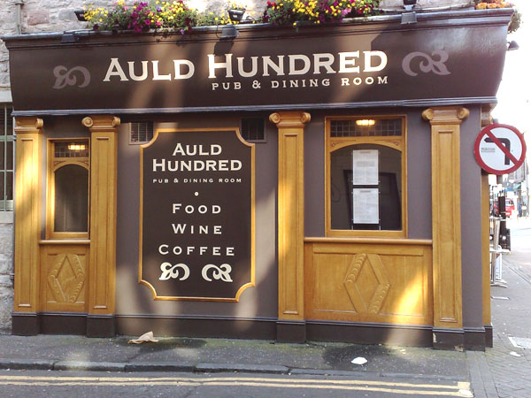 Auld Hundred Pub – Edinburgh