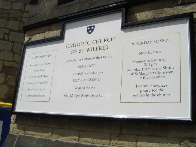 St Wilfrid's Catholic Church – York