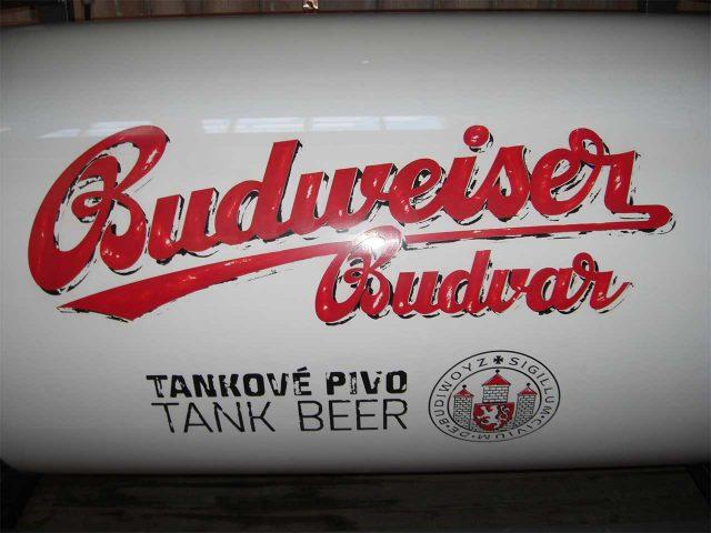 Budweiser beer tanks