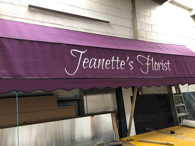 Jeanettes Florist Canopy