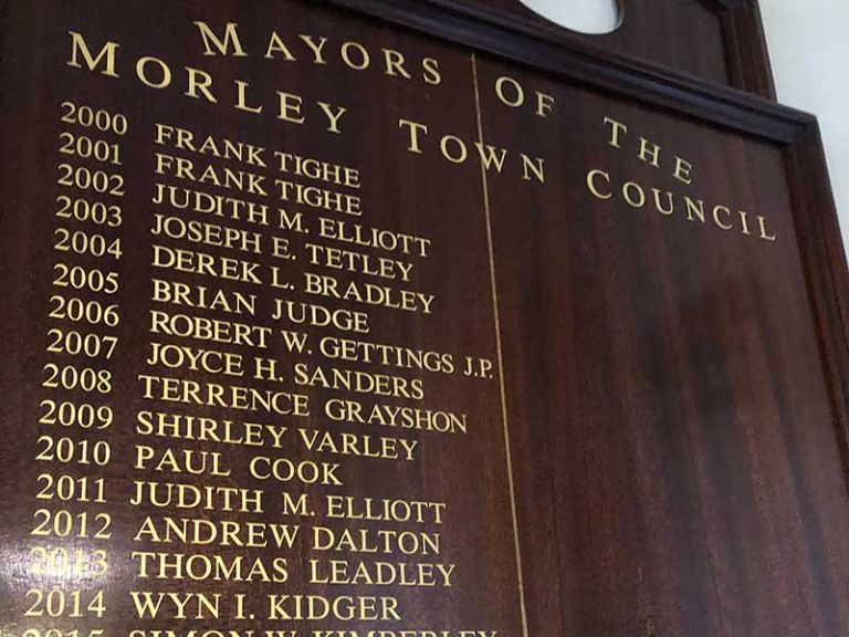 Morley Council Honours Board